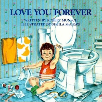 The gift that our neighbor brought for Mac is the book Love You Forever by