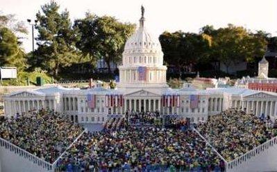 lego replica of the inauguration