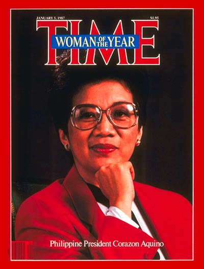 President Corazon Aquino in Time magazine